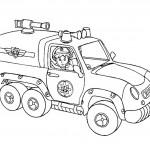 דף צביעה פני מוריס במכונית הכיבוי