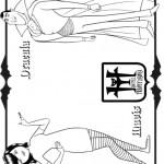 דף צביעה דרקולה וביתו מייוויס