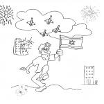 דף צביעה סמלי יום העצמאות