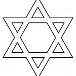 דף צביעה סמל מגן דויד