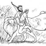 דף צביעה בר כוכבא רוכב על האריה