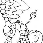 דף צביעה ילד מכניס מרשמלו למדורה
