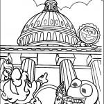 דף צביעה החבובות בביקור בבית הלבן