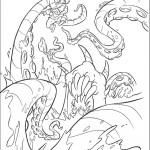 דף צביעה שודד ים בזרועות התמנון