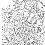 דף צביעה שודדים בדו קרב על גלגל מים