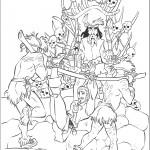 דף צביעה קפטן ספארו והגולגלות