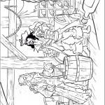 דף צביעה וויל וקפטן ספארו בחדרו של הקפטן