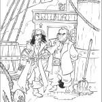 דף צביעה קפטן ג'ק ומר סמית משוחחים על הסיפון