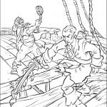דף צביעה קרב בין שודדי הים
