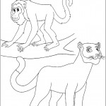 דף צביעה קוף ונמר