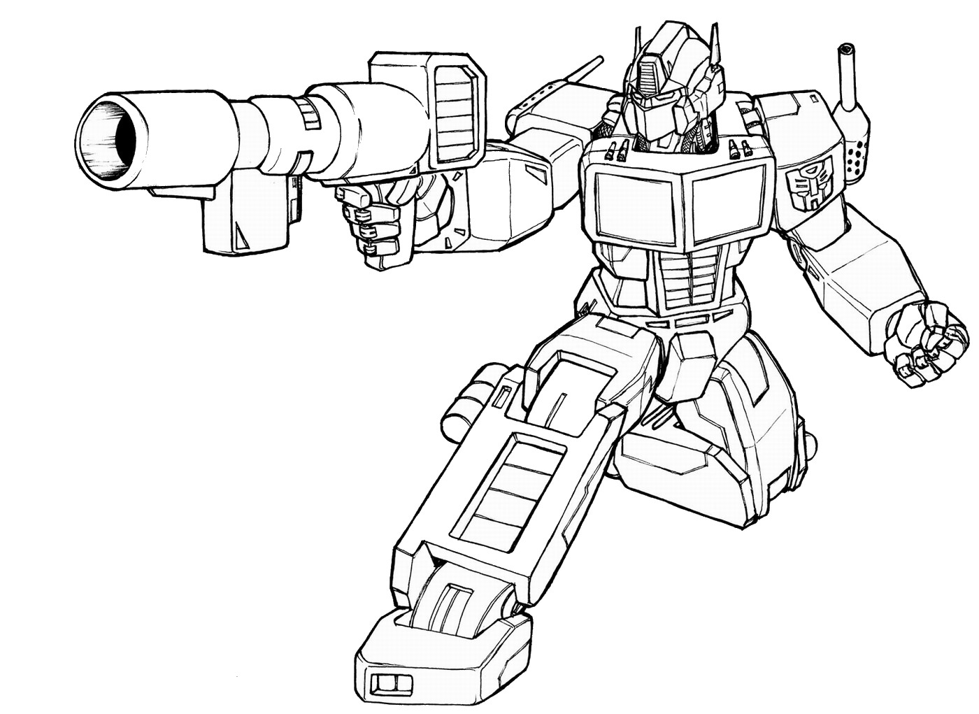 transformers fighting coloring pages - photo#34
