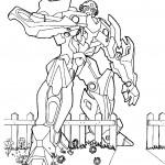 דף צביעה רובוטריקים 4