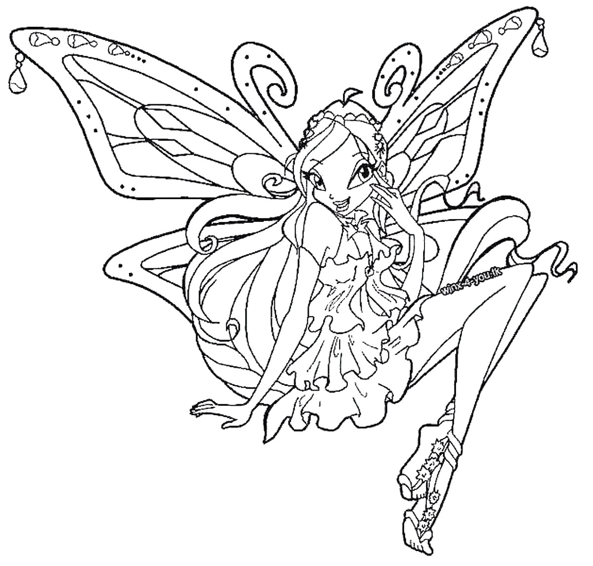 Coloring pages - Coloriage winx ...