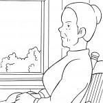 דף צביעה מרילה חוששת מאבדן ביתה
