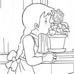 דף צביעה אן עוזרת בעבודת הבית