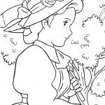דף צביעה אן בלבוש חגיגי