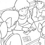 דף צביעה אן וחברותיה בבית הספר