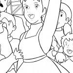 דף צביעה אן מודה לילדים על הצפייה בהופעתה