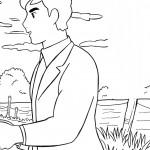 דף צביעה מתיו בחווה הירוקה