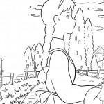 דף צביעה אן בחווה הירוקה