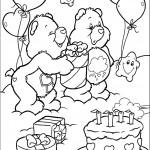 דף צביעה הדוב קוטר חוגג יום הולדת