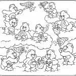 דף צביעה דובוני אכפת לי צדים לבבות בשמיים