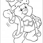 דף צביעה דוב לב טוב מחופש למלך