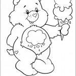 דף צביעה דוב קוטר מחזיק בגביע גלידה