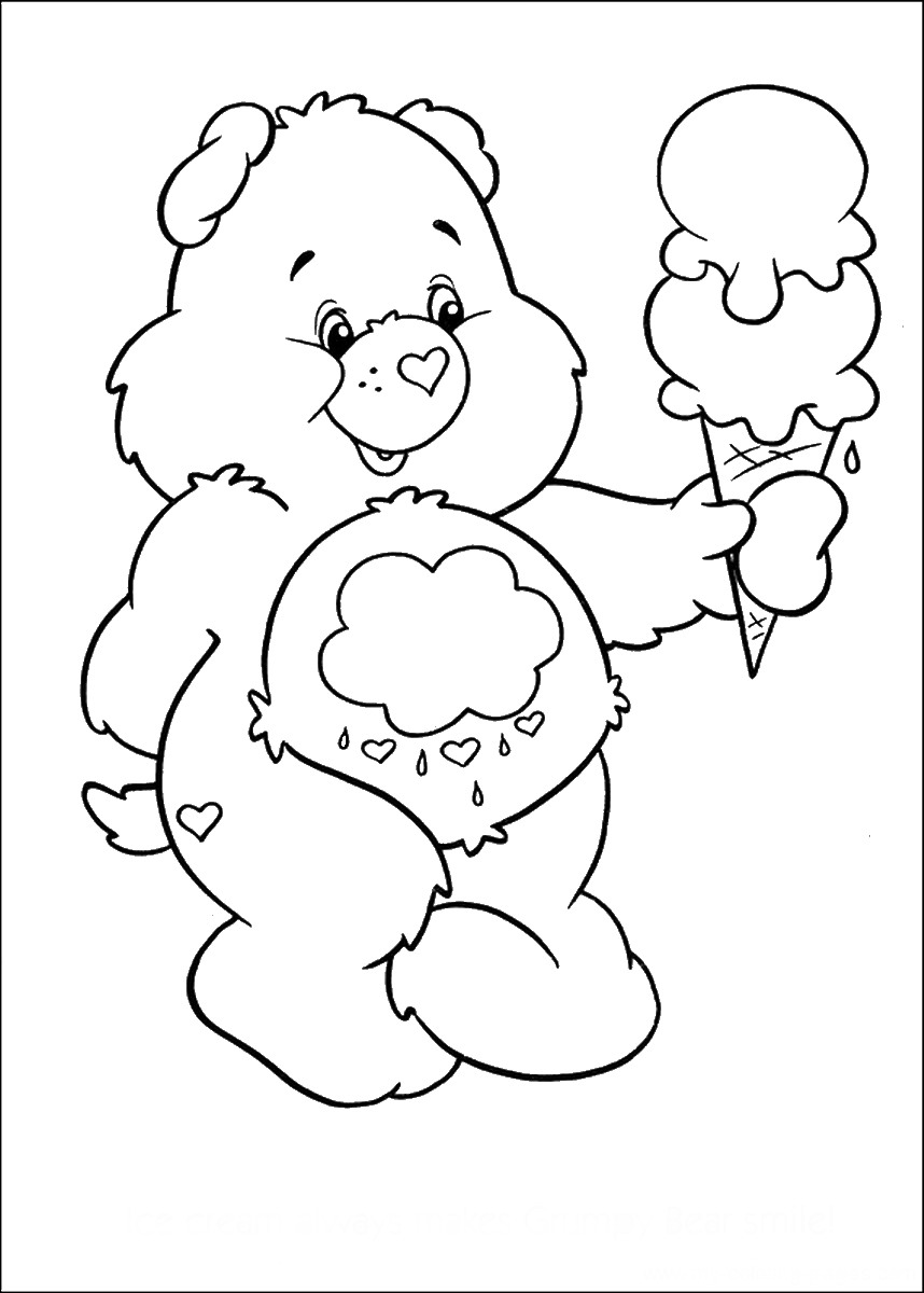 for Coloring pages of care bears