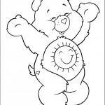 דף צביעה דוב שמחה