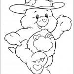דף צביעה הדובה חייכנית