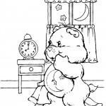 דף צביעה דוב לילה טוב מתכונן לשינה