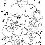דף צביעה דובוני אכפת לי מנגנים ושרים