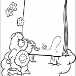 דף צביעה דוב שמחה מצייר