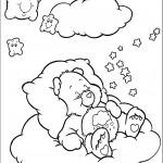 דף צביעה דוב לילה טוב נרדם על ענן