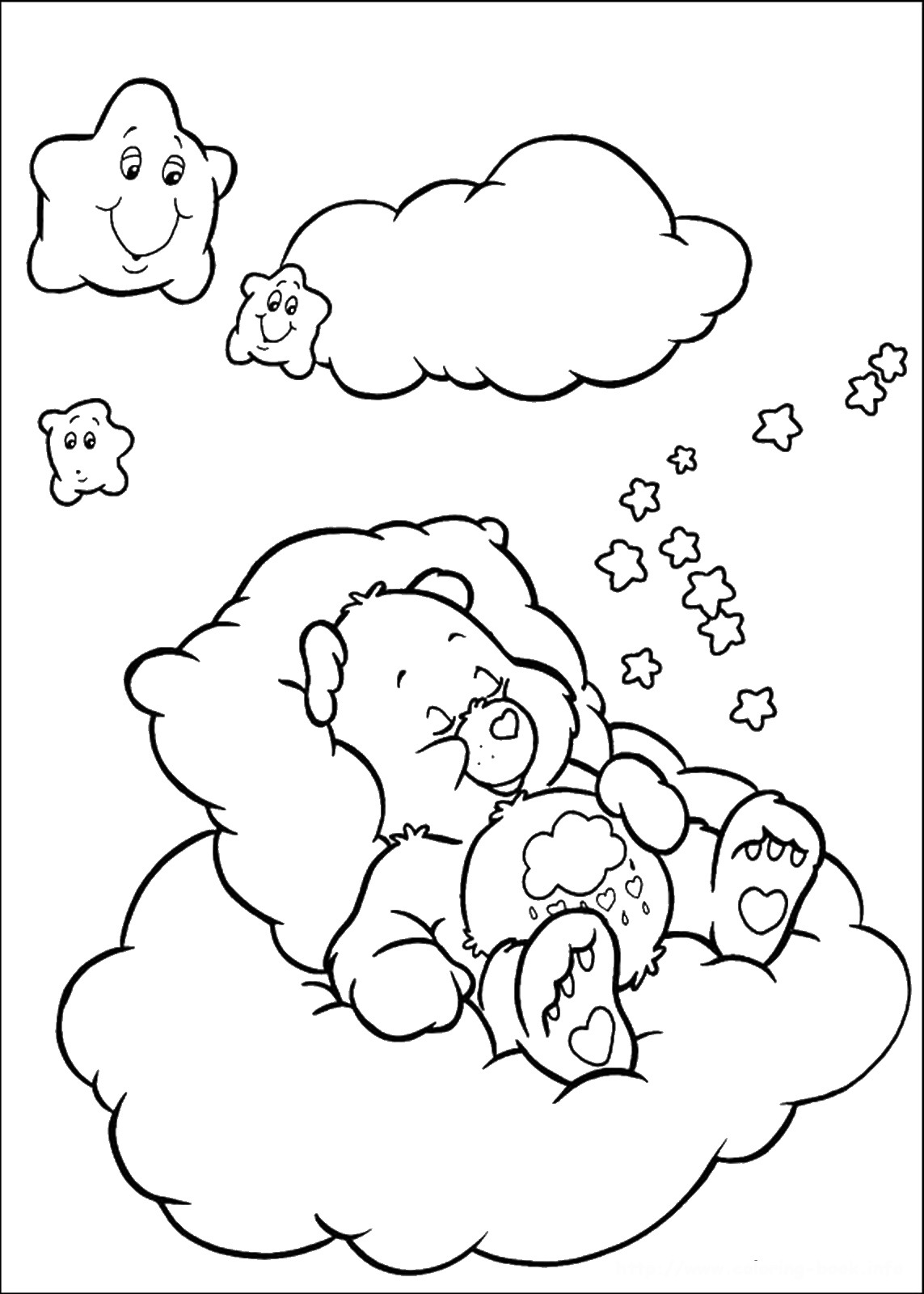 the care bears coloring pages - photo#9