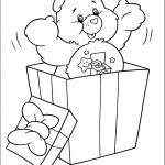 דף צביעה דובוני קופץ מקופסת מתנה