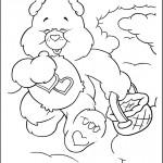 דף צביעה דוב לב טוב עוזר לכולם