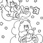 דף צביעה דוב לילה טוב עייף