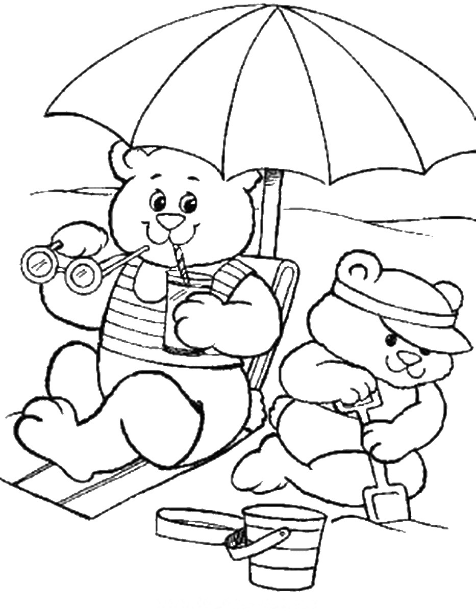 funshine cear coloring pages - photo#13
