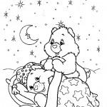 דף צביעה דוב לילה טוב הולך לישון