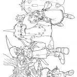 דף צביעה כל גיבורי דיגימון