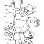 דף צביעה איש משפחה 10