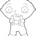 דף צביעה התינוק הגאון סטואי