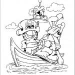 דף צביעה גארפילד ואודי בספינת השודדים