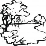 דף צביעה עצים על פלגי נחל