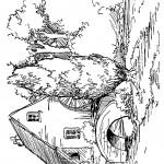 דף צביעה בית, נחל וגשר