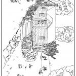 דף צביעה צמחיה בית וגינה בין העצים
