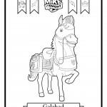 דף צביעה הסוס גאלהאד