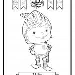 דף צביעה האביר מייק 1